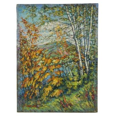Fall Landscape Acrylic Painting, 2019