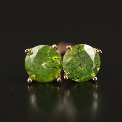 14K 0.94 CTW Diamond Solitaire Earrings