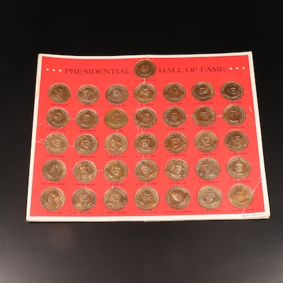 "Thirty-Six Piece ""Presidential Hall of Fame"" Commemorative Brass Token Set"