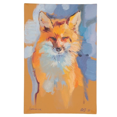 Oil Painting of Fox, 2020