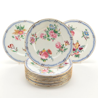 "English Coalport China ""Old Coalport"" Dinner Plates, Late 19th/ Early 20th C."