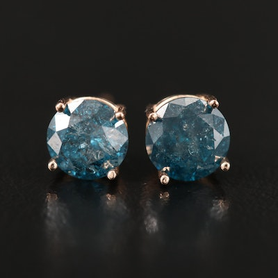 14K Rose Gold 1.71 CTW Diamond Stud Earrings