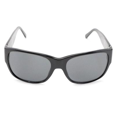 Prada SPR 18H Black Oversized Rectangular Sunglasses with Case