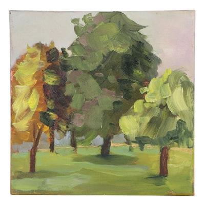 Elaine Neumann Landscape Acrylic Painting, 21st Century