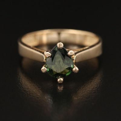 14K 1.12 CT Sapphire Ring