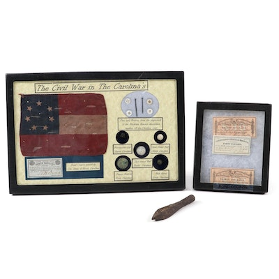 """The Civil War in the Carolina's"" Field Relics and CSA Bond Coupons"
