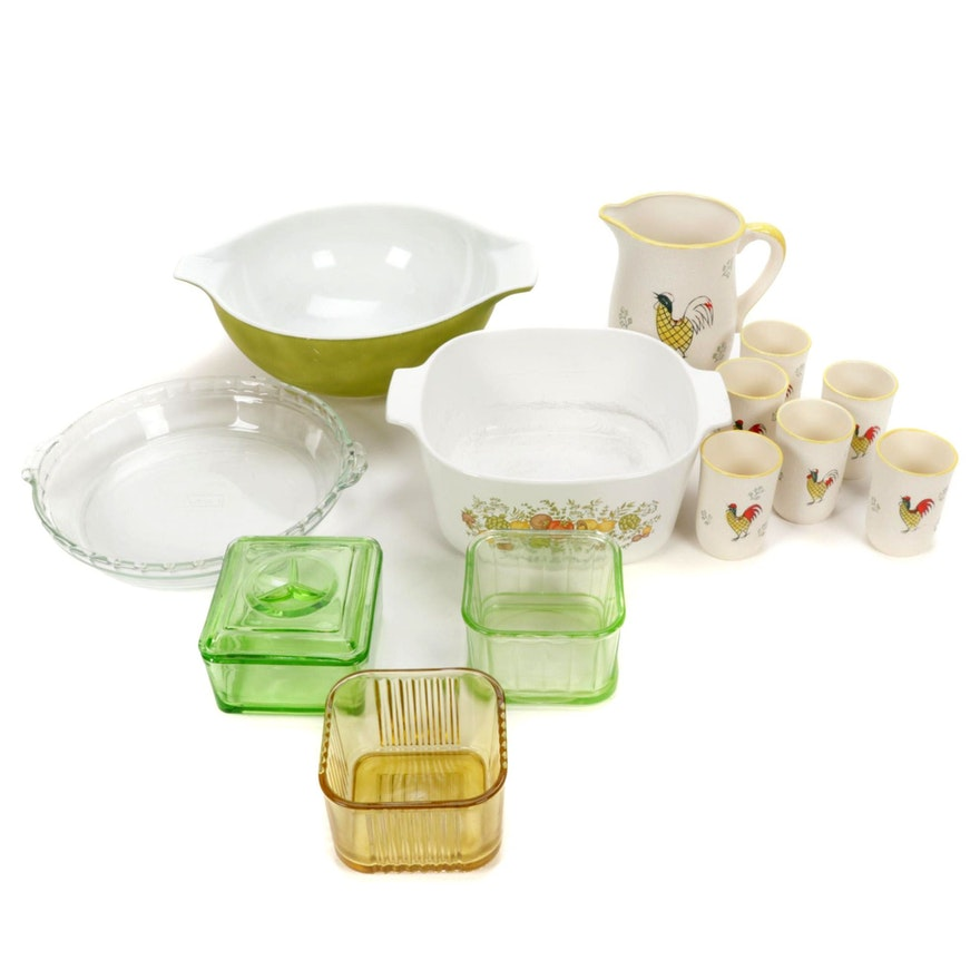 Pyrex Mixing Avocado Handled Bowl, Refrigerator Dishes and Other Kitchenware