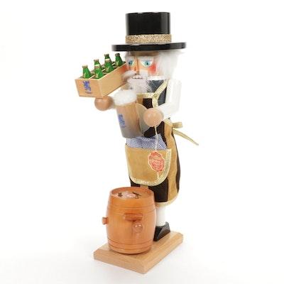 "Steinbach ""Brewmaster"" Wooden Musical Nutcracker"