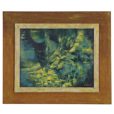 R.H. Odgers Abstract Oil Painting, Late 20th Century