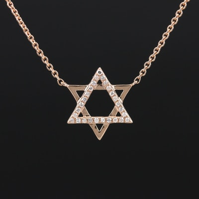 EFFY 14K Diamond Star of David Necklace