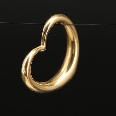 Italian 14K Heart Pendant