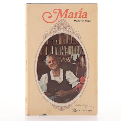"Signed First Edition ""Maria"" by Maria von Trapp, 1972"