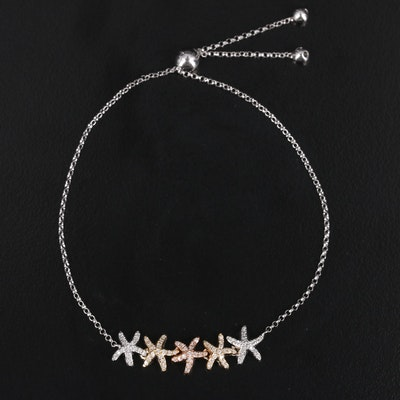EFFY 14K Tri-Gold Diamond Starfish Bolo Bracelet
