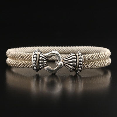 Joseph Esposito Sterling Double Braided Wire Bracelet