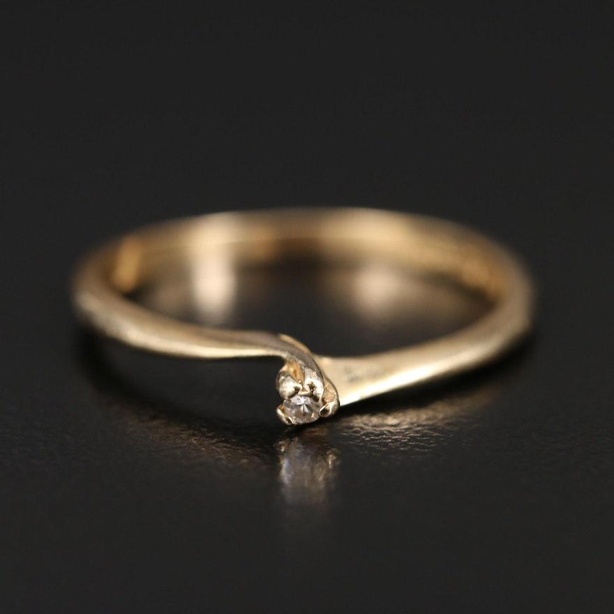 14K Diamond Solitaire Ring