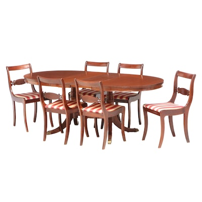 Seven-Piece Federal Style Dining Set, 20th Century