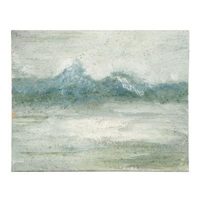 Elaine Neumann Mixed Media Painting of Seascape, 2016