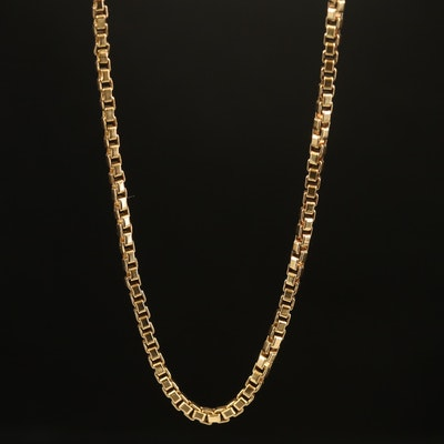 18K Box Link Necklace