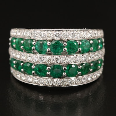 EFFY 14K Emerald and Diamond Band