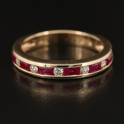 EFFY 14K Ruby and Diamond Band