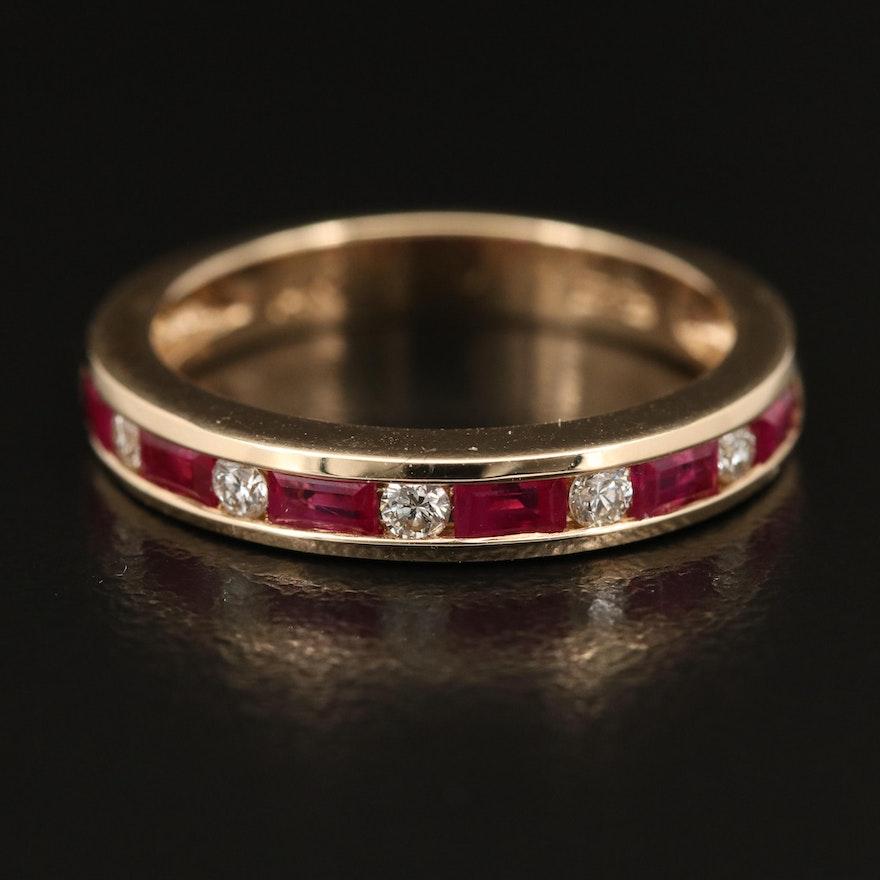 EFFY 14K Ruby and Diamond Band