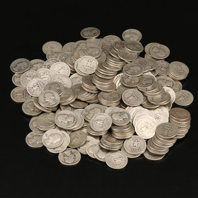 250 Washington Silver Quarters, 1940s