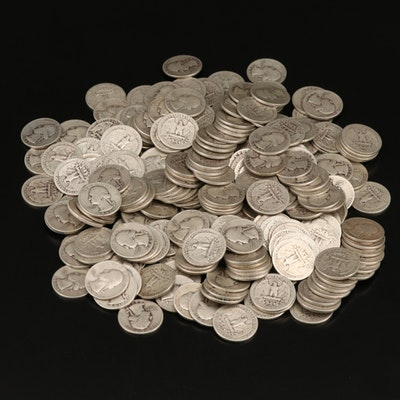 250 Washington Silver Quarters, 1940s