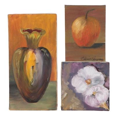 Elaine Neumann Still Life Acrylic Paintings, 21st Century