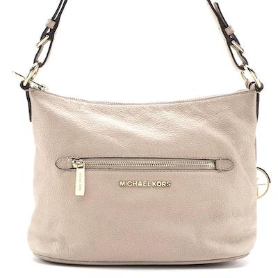 Michael Kors Beige Pebbled Leather Shoulder Bag
