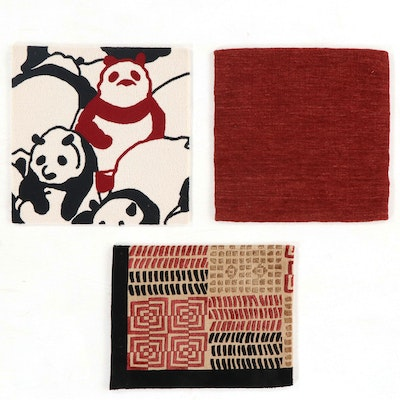 Handmade and Machine Made Contemporary Wool and Silk Accent Rugs