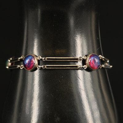 Sterling Yellowstone Park Souvenir Bracelet
