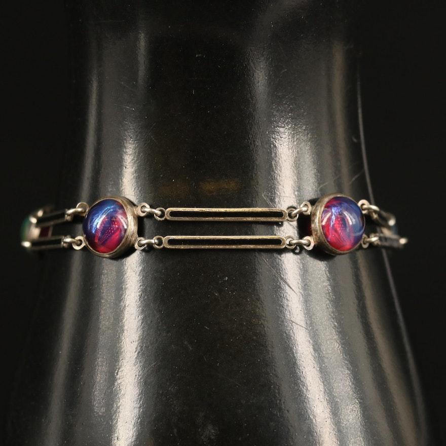 Sterling Dragon's Breath Yellowstone Park Souvenir Bracelet