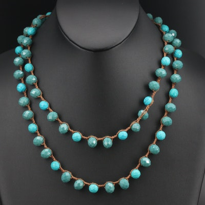 Chalcedony and Magnasite Bead Necklace