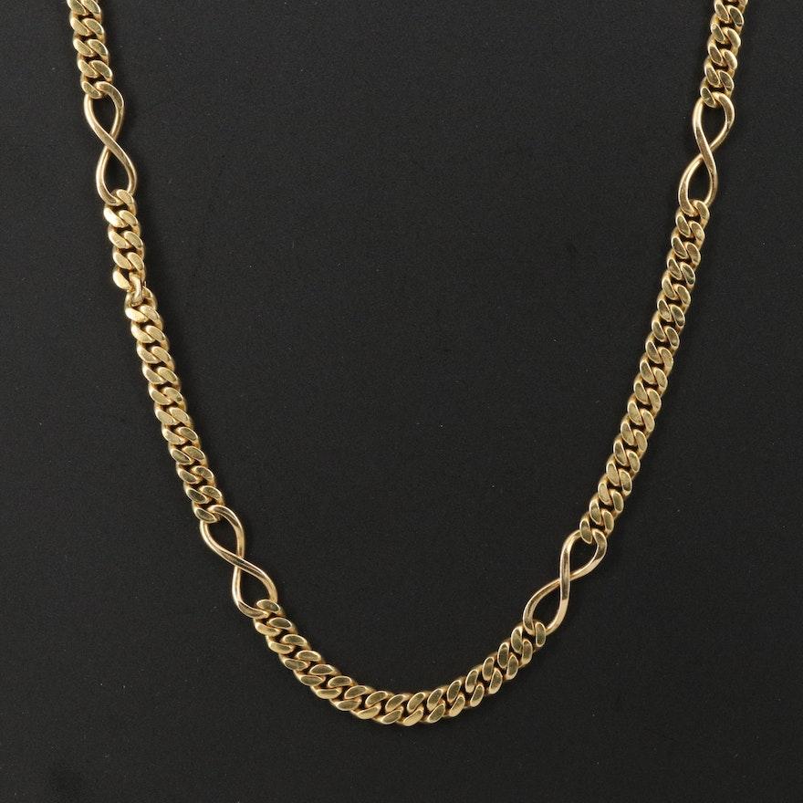 18K Infinity Station Necklace