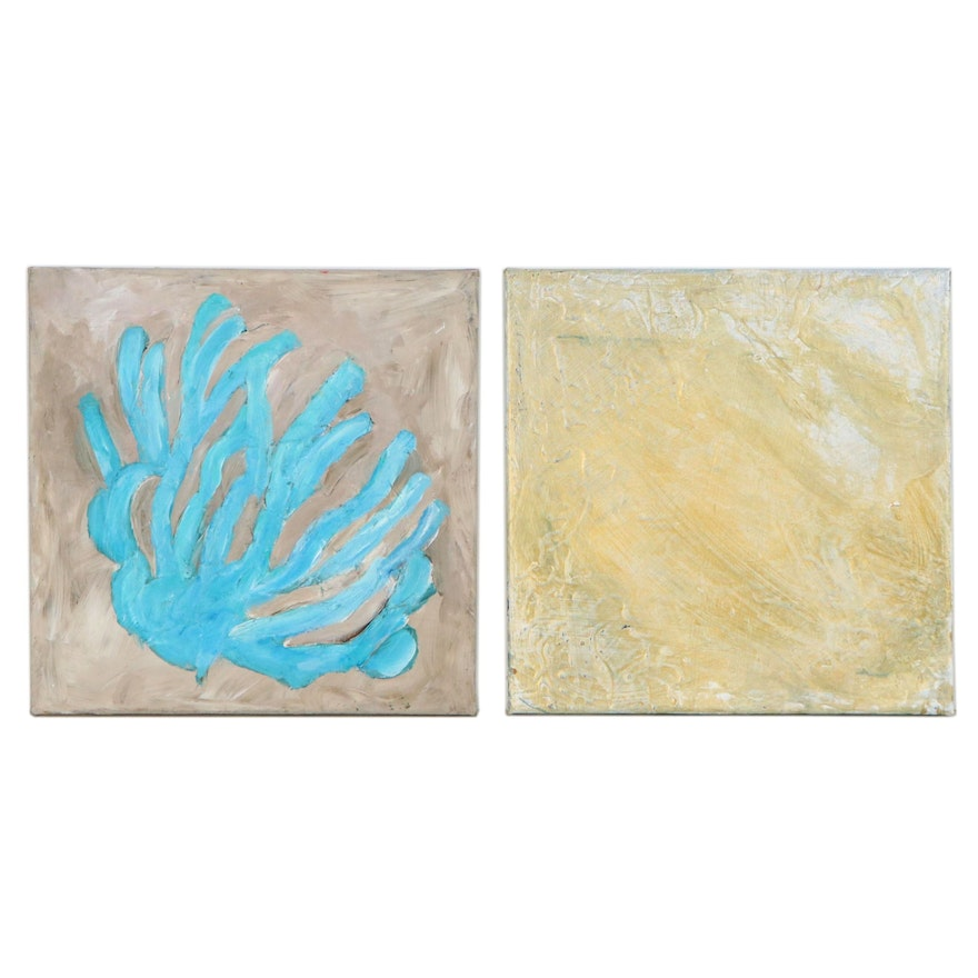 Eric Banks Abstract Oil Paintings, 21st Century