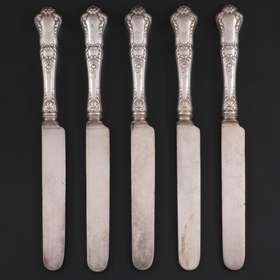 "Gorham ""Baronial-Old"" Sterling Silver Handled Dinner Knives, Early-Mid 20th C."