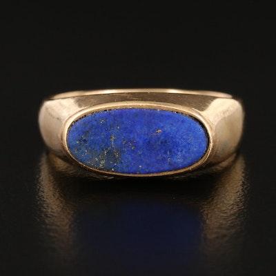 18K Lapis Lazuli Inlay Ring
