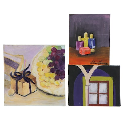 Elaine Neumann Oil Paintings of Still Life and Architectural Detail