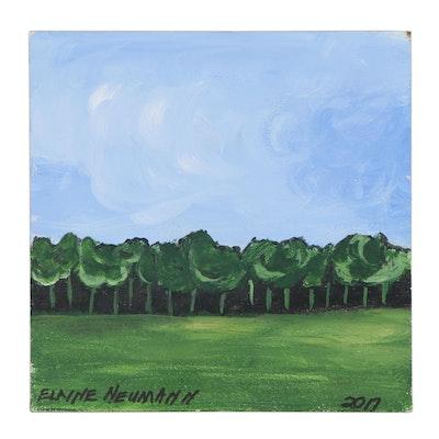 Elaine Neumann Landscape Acrylic Painting, 2017