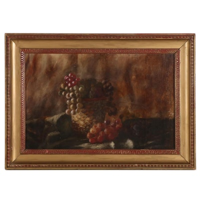 Still Life Oil Painting with Grapes