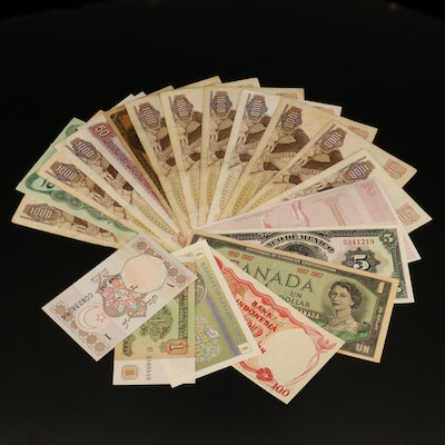 Twenty Foreign Currency Notes