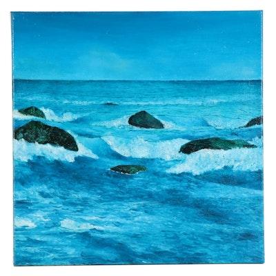 "Sebastian Meier Oil Painting ""La Costa Guaira,"" 2020"