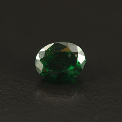 Loose 1.60 CT Oval Faceted Tsavorite Garnet