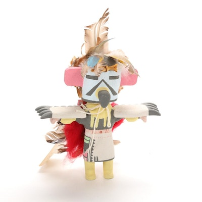 "Chester Poleyestewa ""Eagle"" Hopi Kachina Doll"