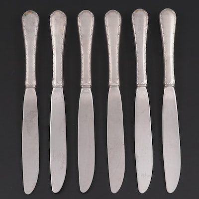 "Towle ""Petit Point"" Sterling Silver Handled Knives, Mid to Late 20th Century"