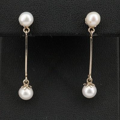 18K Pearl Earrings