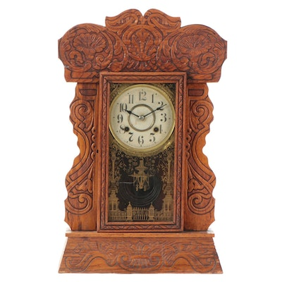 New Haven Gingerbread Shelf Clock, Late19th/Early 20th Century