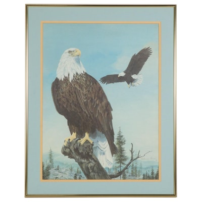 """Catherine Gerard Offset Lithograph """"This Fair Land,"""" Late 20th Century"""