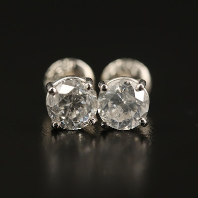 Platinum 2.02 CTW Diamond Stud Earrings