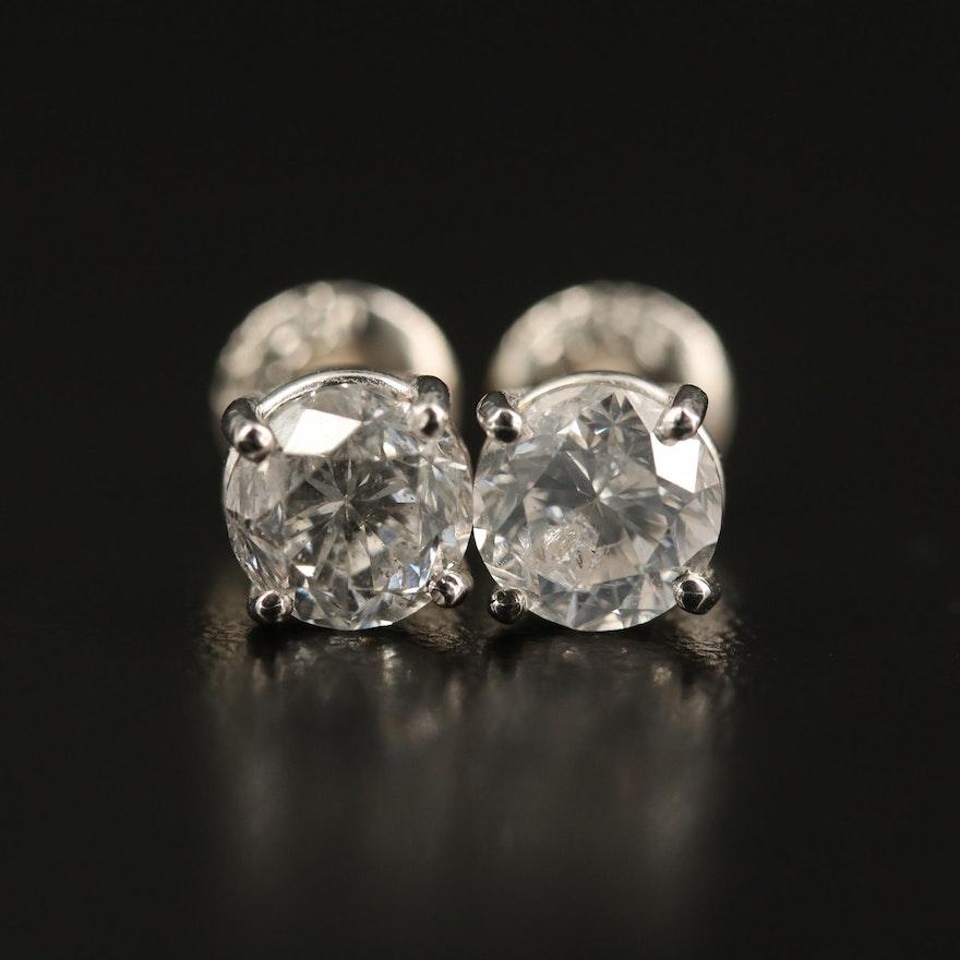 Platinum 2.02 CTW Diamond Stud Earrings